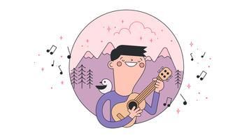 vetor de som do ukulele