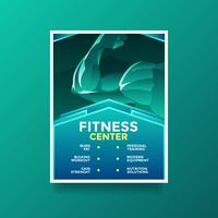 Vetor de folheto de saúde estilo de vida de centro de fitness