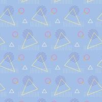 textura geométrica abstrata de memphis anos 80 anos 90 estilo triângulos abstratos círculos fundo vetor