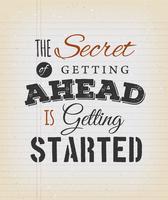 Inspiradora citação de motivação no fundo Vintage