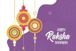 raksha bandhan, pulseira joalheria relação indígena entre irmãos e irmãs vetor