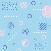 memphis forma um triângulo e quadrados anos 80 anos 90 fundo abstrato azul vetor