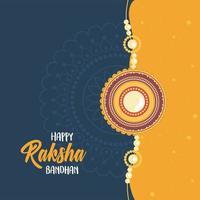 raksha bandhan, pulseira decorada de relação irmãos e irmãs celebração indiana vetor