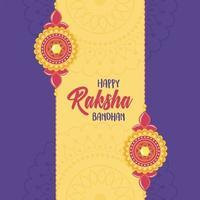 raksha bandhan, pulseiras elegantes de relacionamento irmãos e irmãs festival indiano vetor