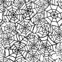 o padrão da teia de aranha. design para o dia das bruxas, papel, têxteis. feriados. padrão de halloween. mão desenhada ilustração vetorial. vetor