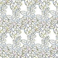 Vector fundo sem emenda com aquarela colorida ilustração de ervas, plantas e flores. pode ser usado para papel de parede, preenchimentos de padrão, página da web, texturas de superfície, impressão em tecido, papel de embrulho