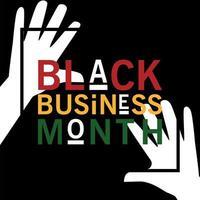 mês de negócios preto com design de vetor de mãos