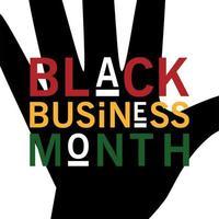 mês de negócios preto com desenho vetorial de mão vetor