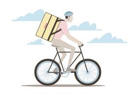 Bicicleta mensageiro homem vetor