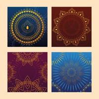 conjunto de modelos para cartões, festival indiano vetor