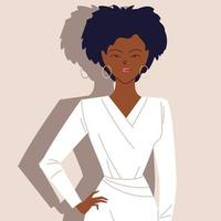 retrato de uma empresária afro de sucesso vetor