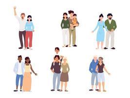 conjunto de famílias, gerações de famílias juntas vetor