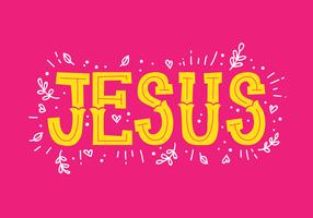Letras de mão de Jesus vetor