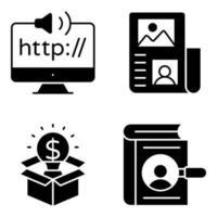 pacote de ícones de glifo http vetor