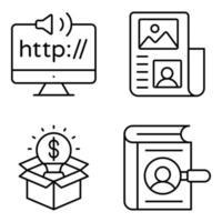 pacote de ícones lineares http vetor