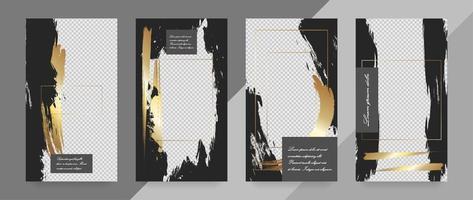 modelo de banner de mídia social. maquete editável para histórias, blog pessoal, layout para promoção. vetor