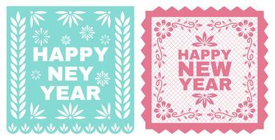 Feliz Ano Novo Instagram Post vetor