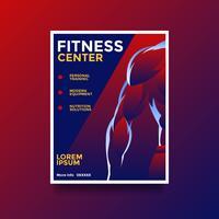 centro de fitness saúde lifestyle flyer vetor