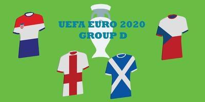 grupo d do torneio uefa euro 2020 vetor