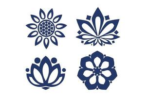 ilustração em vetor de grinaldas de mão desenhada. conjunto de quadro de grinalda floral doodle fofo