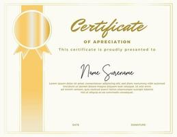 modelo de certificado editável, com uma aparência simples e elegante vetor