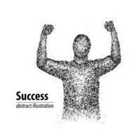 homem bem sucedido abstrato de círculos. ilustração vetorial. vetor