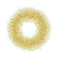 o círculo de areia dourada. ilustração vetorial. vetor