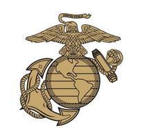 corpo da marinha do estado unido águia globo e âncora ega design ilustração vetorial formato eps, adequado para suas necessidades de design, logotipo, ilustração, animação, etc. vetor