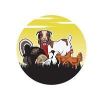gado animais fazenda design ilustração vetorial formato eps, adequado para suas necessidades de design, logotipo, ilustração, animação, etc. vetor