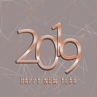 Fundo de feliz ano novo ouro rosa