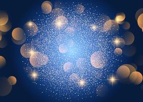 Fundo de luzes de bokeh de Natal vetor