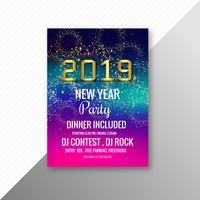 Modelo de celebração de folheto de festa de ano novo de 2019 vetor