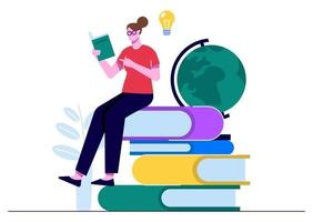 melhore-se lendo livros vetor