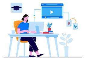 tutoria online na internet vetor