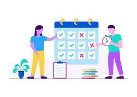 agenda de aulas vetor