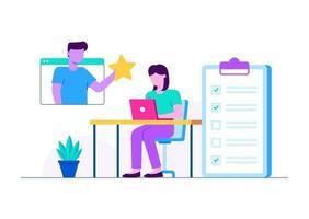 atribuição e revisão de tarefas vetor