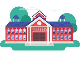 prédio de escola universitária vetor
