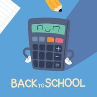 faixa de volta às aulas, modelo colorido de volta às aulas, calculadora vetor