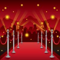 Ilustração de tapete vermelho de Hollywood vetor