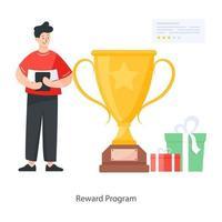 programa de recompensa e presentes vetor
