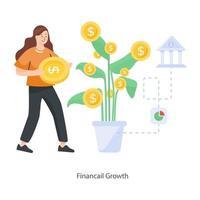 crescimento comercial e financeiro vetor