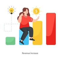 design de aumento de receita vetor