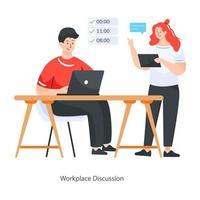 projeto de discussão no local de trabalho vetor