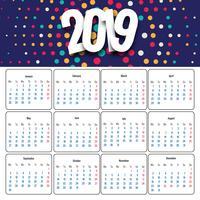 Projeto bonito do calendário de negócios 2019 vetor