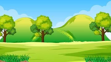 paisagem em branco do parque natural durante o dia vetor