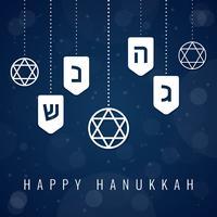 Hanukkah moderno fundo azul vetor