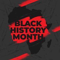 Design de modelo de vetor de logotipo de mês de história negra