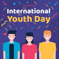 Fundo Internacional do Dia da Juventude vetor