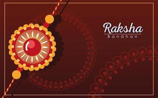 desenho vetorial de pulseira de flor de mandala multicolorida raksha bandhan vetor