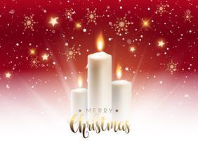 Fundo de vela de Natal vetor